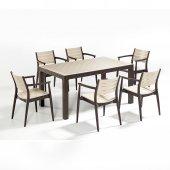 Novussi Regnum Bahçe Seti 6 Sandalye + 1 Camlı Mas...