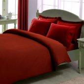 Taç Premium Basic Stripe Red Çift Kişilik Pamuk Saten Nevresim Ta