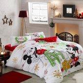 Taç Minnie And Mickey Çift Kişilik Lisanslı Nevresim Takımı