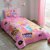 Taç Winx Flower Tek Kişilik Yatak Örtüsü Seti...