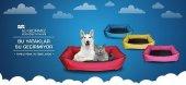 Köpek Kedi Yatağı Sıvı Geçirmez Kedi Köpek Minderi Evi Yuvası Kedi Köpek Evcil Kulübesi Minderi -5