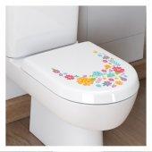 Çiçekler - 3 Klozet Sticker