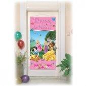 Kapı Banner Prenses & Anımals 1 Adet