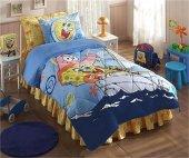 Taç Sponge Bob Boa Tek Kişilik Uyku Seti