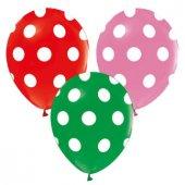 Balon Çepeçevre Puantiyeli Karışık 100 Adet