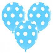 Balon Çepeçevre Puantiyeli Mavi 100 Adet