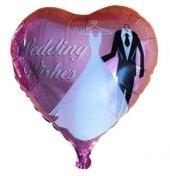 Folyo Balon Kalpli Gelin Damatlı 1 Adet