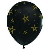 Balon Çepeçevre Siyah Altınyıldız Baskılı 100...