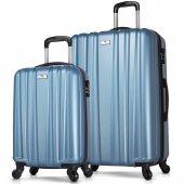 My Valice Expo Abs 2li Valiz Seti (Kabin Ve Büyük) Mavi