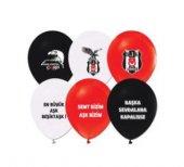 Balon 2+1 Beşiktaş Baskılı Pastel Renk 100 Adet...