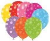 Balon Çepeçevre Papatya Baskılı Karışık Renk...