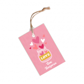 Seni Seviyorum Pembe İpli Etiket (8.2x5 cm) 12 Adet