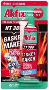 Akfix 50gr. Tüp Yüksek Isı Silikonu (Sıvı Conta) Kırmızı Renk Hızlı Kargo Avantajıyla