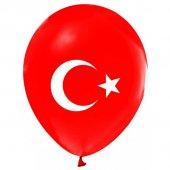 Balon Türk Bayrağı Baskılı Çift Taraflı 100 Lü