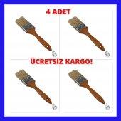2 No Kestirme Fırçası Ahşap Saplı Profesyonel 4 Ad...