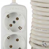 Viko Üçlü 3 Metre Kablolu Uzatmalı Priz