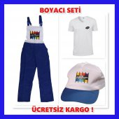Boyacı Seti Xl Beden (56 58)tulum Tişört Şapka Bir...