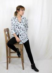 Pamuklu Yaprak Desenli Turuncu Gömlek XSG3124-4