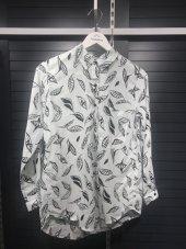 Pamuklu Yaprak Desenli Turuncu Gömlek XSG3124-10