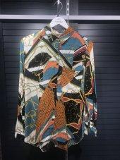 Pamuklu Vintage Desenli Gömlek XSG3128-6