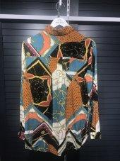 Pamuklu Vintage Desenli Gömlek XSG3128-7