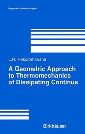 Geometric Approach To Thermomechanics Of Dissipating Continua, A