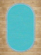 Mavi Düz Renk Modern Oval Halı - HS97012PO-2