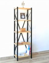 Metal Ahşap Kitaplık Seti Ofis Büro Raf K261