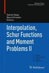 ınterpolation, Schur Functions And Moment Problems Ii