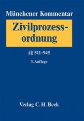 Münchener Kommentar Zur Zivilprozessordnung (Zpo) 02. � � �� � � 511 945