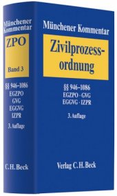 Münchener Kommentar Zur Zivilprozessordnung (Zpo) 03. � � 946 1086 Bd. 3