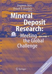 Mineral Deposit Research Meeting The Global Challenge Volume 1