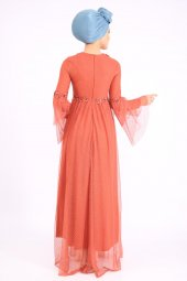 PUANE Kadın Kiremit Elbise-2