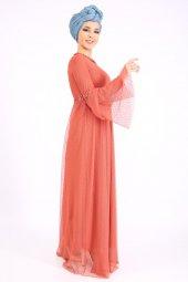PUANE Kadın Kiremit Elbise-3