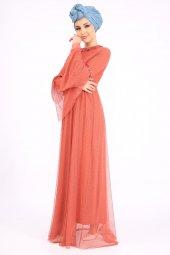 PUANE Kadın Kiremit Elbise-4