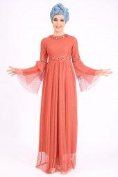 PUANE Kadın Kiremit Elbise-5