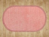 Pudra Düz Renk Modern Oval Halı - HS97011PO