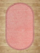 Pudra Düz Renk Modern Oval Halı - HS97011PO-2