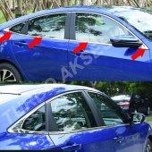 Honda Civic 2016 2017 Cam Çıtası (8 Parça) Fc5 (2016 Ve Üzeri)