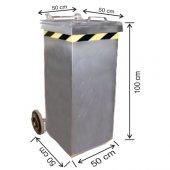 240 Litre Galvaniz Metal Çöp Konteyneri