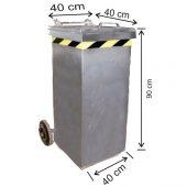 120 Litre Galvaniz Metal Çöp Konteyneri