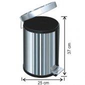 1003 Pedallı Çöp Kovası Plastik İç Kovalı 12 Litre-2