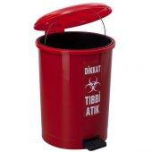 7139 Yuvarlak Pedallı Plastik İç Kovalı Çöp Kovası 40 Litre-5