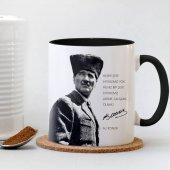 Atatürk Siyah Kupa Bardak 015