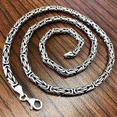 Gümüş Kral Erkek Kolye Zincir 55cm 6mm 71gr...