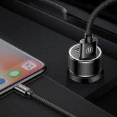 Iphone 6 Plus Araç Şarj Seti Baseus Small Screw...