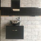 Banyo Dolabı+tas Lavabo+etajerli Ayna+yüksek Batarya.