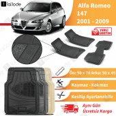 Alfa Romeo 147 2001 2009 Arası Uyumlu Paspas Seti Siyah Gri Bej