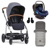 Mamas Papas Sola 2 Winter Set Bebek Arabası Navy Marl