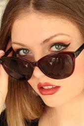 Bordo Çerçeveli Clariss Marka Bayan Güneş Gözlüğü-2